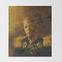 Samuel L. Jackson - replaceface Throw Blanket