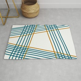 Geometric color moves Rug