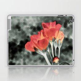 Coral Orange Peach Flowers Laptop & iPad Skin