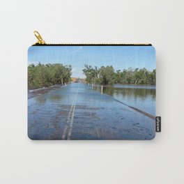 Shaw River Road in Flood Carry-All Pouch
