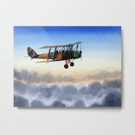 Tiger Moth Aircraft Metal Print