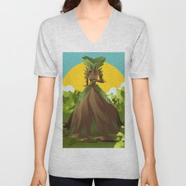 earth nature creature elemental Unisex V-Neck
