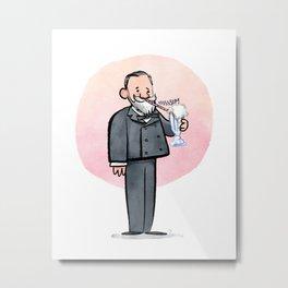 Louis Pasteur & Milkshake Metal Print