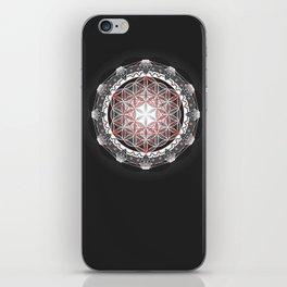 Flower of Life + Metatrons Cube iPhone Skin