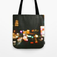 las vegas Tote Bags featuring Las Vegas by Alden Terry