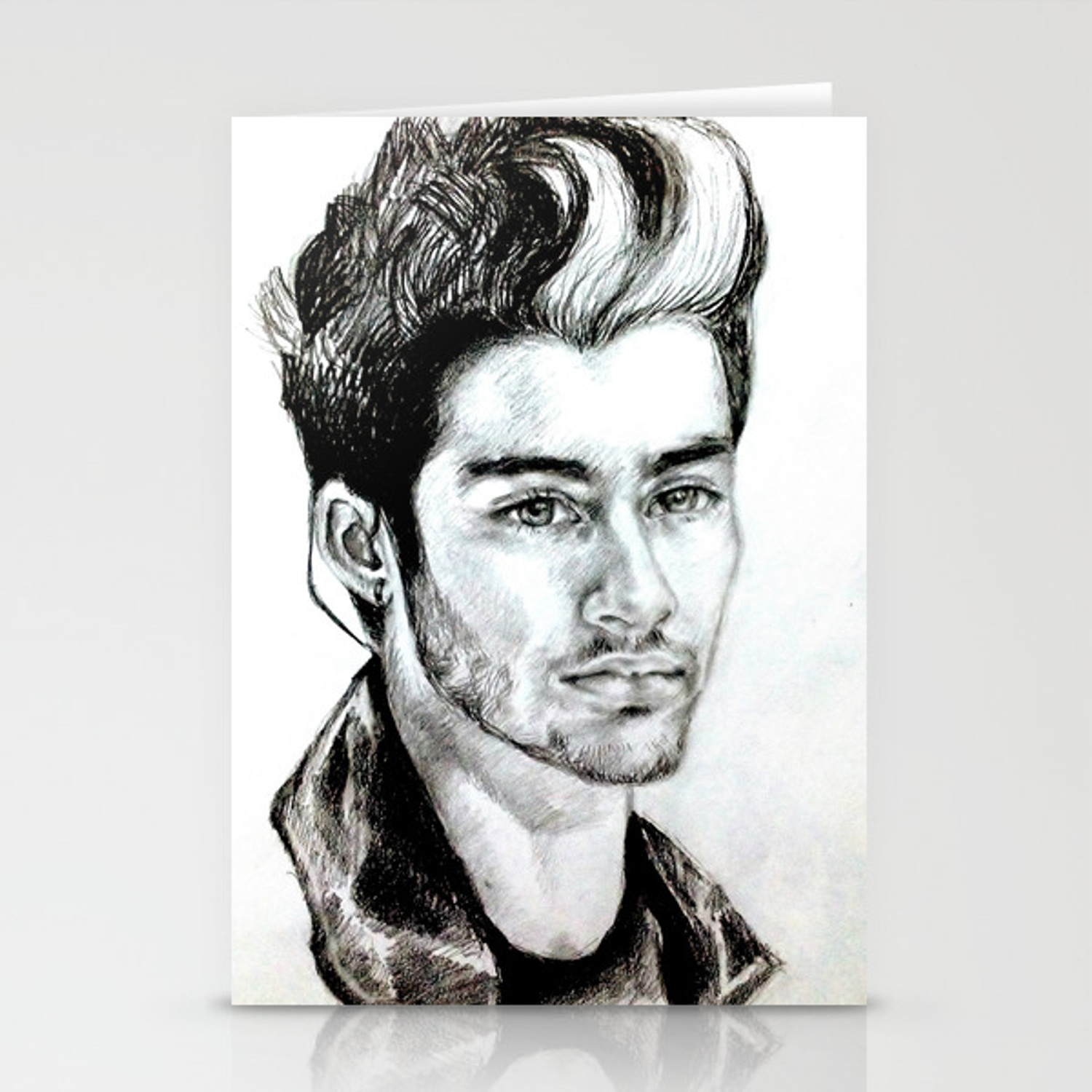 Zayn malik drawing stationery cards by clairenisbet society6