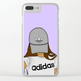 sporty girl Clear iPhone Case