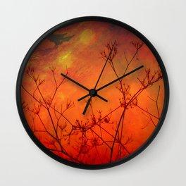Midnight Red Wall Clock