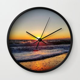 Off-Season Sunset Wall Clock