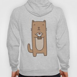 Cute cat with cupcake Hoody