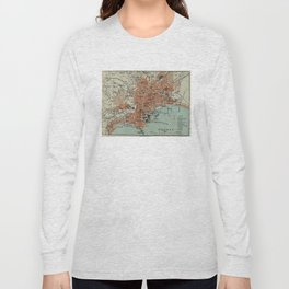 Vintage Map of Naples Italy (1911) Long Sleeve T-shirt