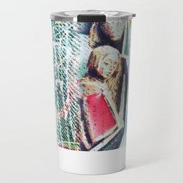 Abstract Jesus Travel Mug