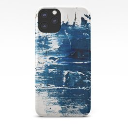 Tranquil: a minimal, abstract piece in blue by Alyssa Hamilton Art iPhone Case