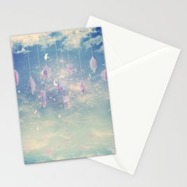 Crystals in the sky Stationery Cards