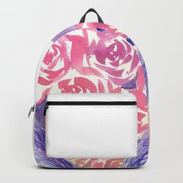 Rainbow Bunny in roses Backpack