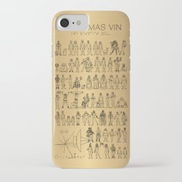The Postmodern Pioneer Plaque iPhone Case