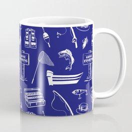 Gone Fishing // Midnight Blue Coffee Mug