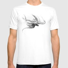 Octopus Rubescens White LARGE Mens Fitted Tee