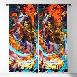 Colorful Levi Aura Blackout Curtain