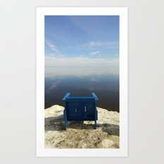 The Blue Chair at the Sea Art Print