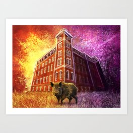 Razorback Painting Art Print