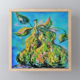 Abstract Pears Framed Mini Art Print
