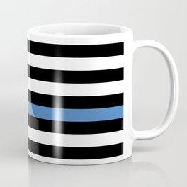 Blue Thin Flag Police Law Enforcement Flag Coffee Mug