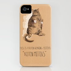 Kitten Mittens Slim Case iPhone (4, 4s)
