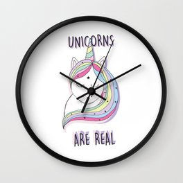 UNICORNS ARE REAL Wall Clock