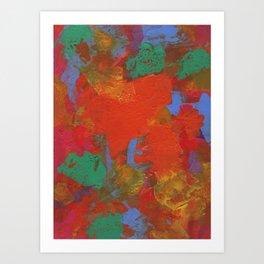 Orange and Jade Art Print