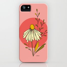 daisy on sunset iPhone Case