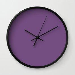 Meadow Violet Wall Clock