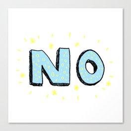 NO Canvas Print