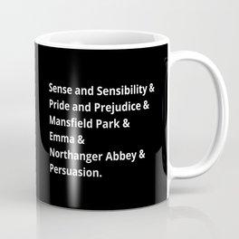 The Jane Austen's Novels II Coffee Mug