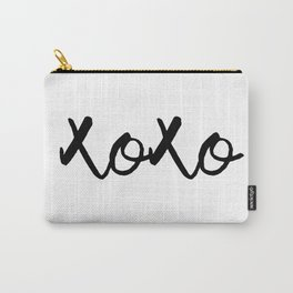 XOXO monochrome Carry-All Pouch