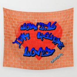 John 3:16 Graffiti Wall Tapestry