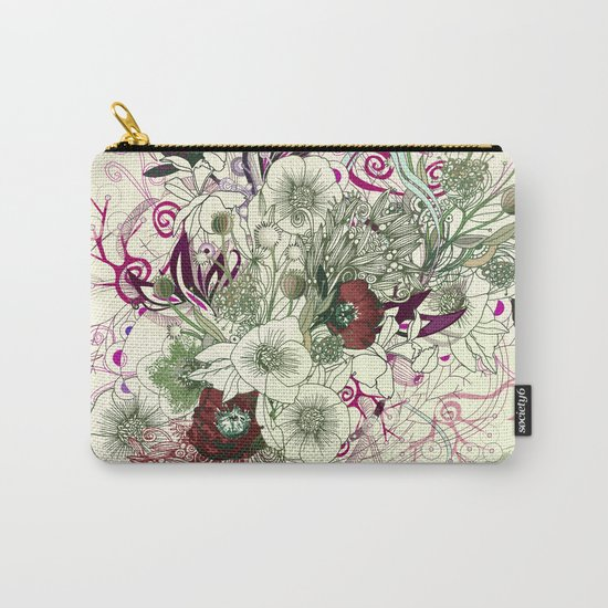 Zentangle Floral mix II Carry-All Pouch