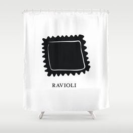 Pasta Series: Ravioli Shower Curtain