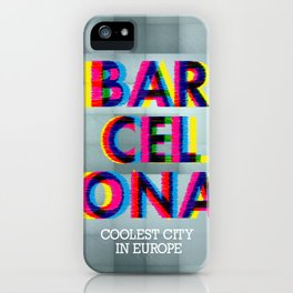Barcelona Glitch Psychedelic iPhone Case