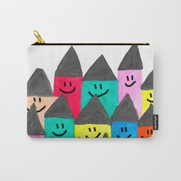 Happy faced houses Carry-All Pouch