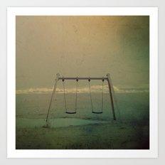 Forgotten swings Art Print
