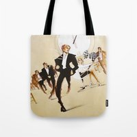 friday Tote Bags featuring Friday by Xenia Ericovna