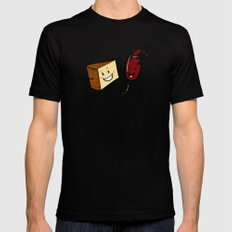 Manchego & Red Wine Mens Fitted Tee MEDIUM Black