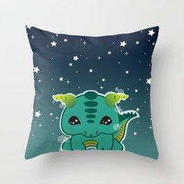 Kawaii Baby Dragon Throw Pillow