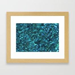 Abalone Shell | Paua Shell | Cyan Blue Tint Framed Art Print
