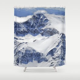 """""""Big mountains"""". Aerial photography Shower Curtain"""