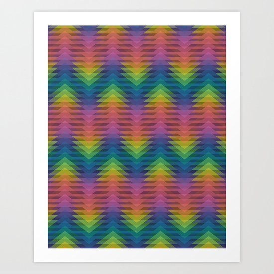 Triangular Entropy Art Print