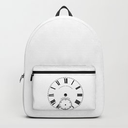 Time goes by vintage clock Backpack