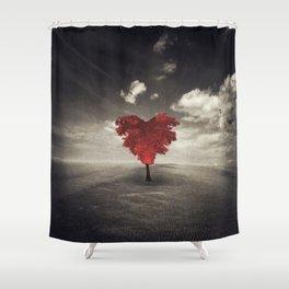 Heart Shaped Tree Shower Curtain