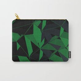 3D Futuristic Geometric Background (Green) Carry-All Pouch